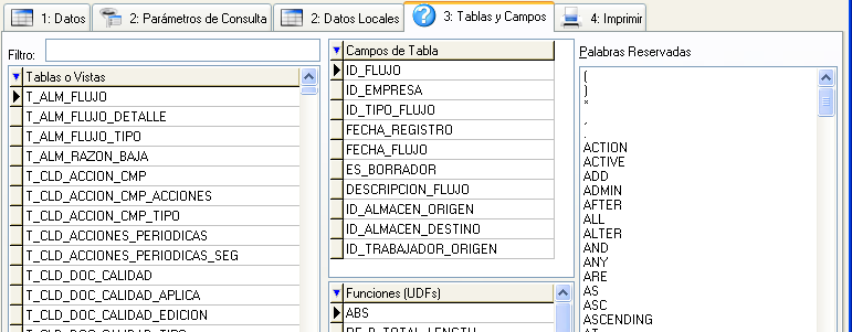 Consultas de datos sql para exportaci n de datos a hojas for Consul database