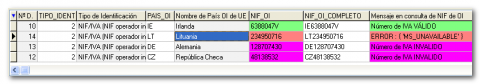 Colores en NIF y mensaje en consulta de NIF de O.I.