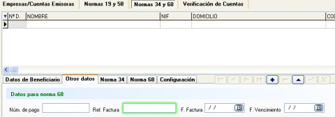 Confirming BBVA datos de factura de beneficiario